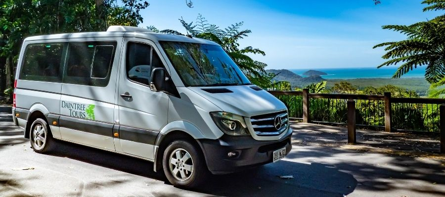 Daintree Tours Van on lookout